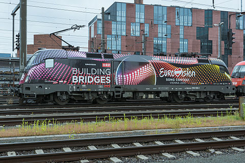 ÖBB_Lok_1116_180-1_Building_Bridges_Eurovision_Song_Contest